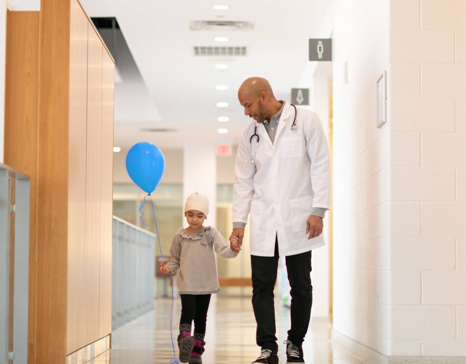 SickKids doctor and child